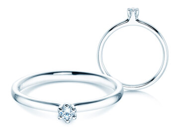 Engagement ring Classic 6 in silver