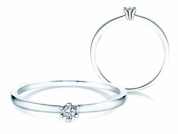 Engagement ring Classic Petite in white gold