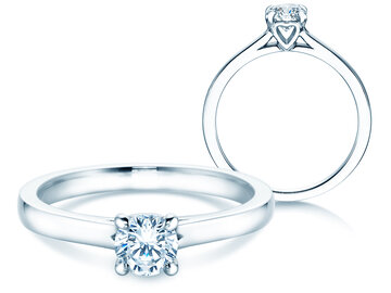Engagement ring Romance in white gold