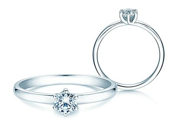 Engagement ring Melody in silver