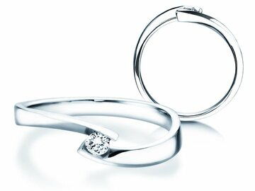 Engagement ring Twist Petite