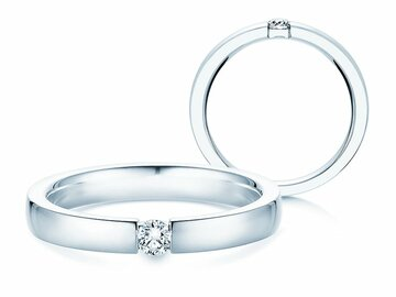 Engagement ring Infinity in platinum
