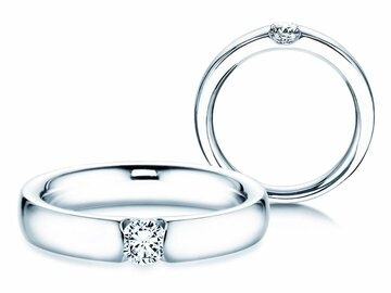 Engagement ring Destiny in platinum