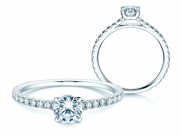 Engagement ring Pure Diamond in platinum