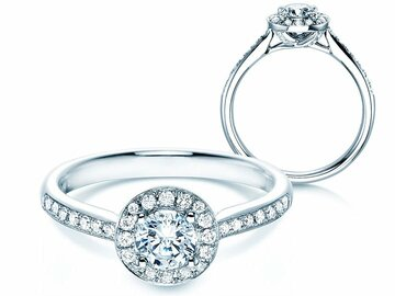 Engagement ring Halo Classic
