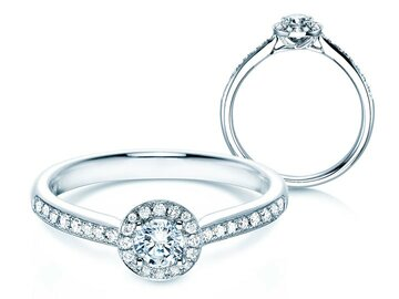 Engagement ring Halo Petite