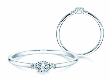 Engagement ring Glory Petite in platinum