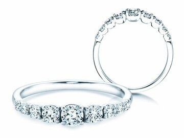 9 diamonds engagement ring