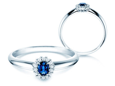 Engagement ring Jolie with sapphire, emerald or ruby