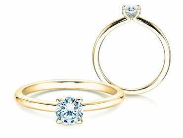 Engagement rings in yellow gold - perfect for classic jewellery