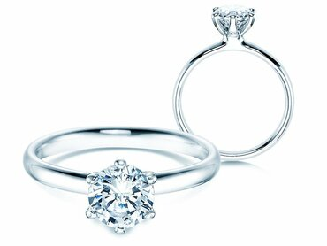 Engagement rings diamond 1 ct. – sparkling one carat GIA certified