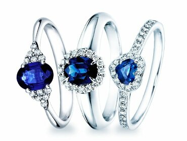 Popular sapphire engagement rings
