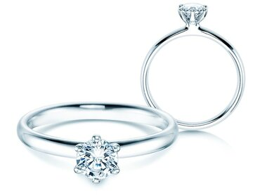 Engagement ring with diamond 0,50 ct. – sparkling half carat GIA certified