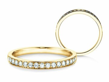 Engagement ring Alliance-/Eternityring in yellow gold