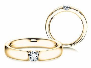 Engagement ring Destiny in yellow gold