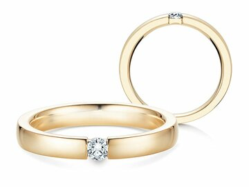 Engagement ring Infinity in yellow gold