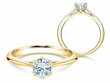 Engagement ring Heaven 6 in yellow gold