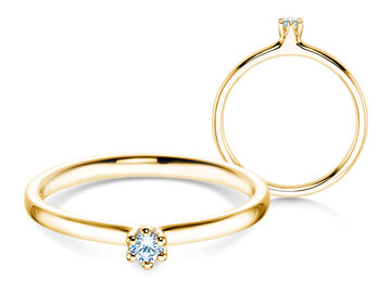 Engagement ring Classic 6 in yellow gold