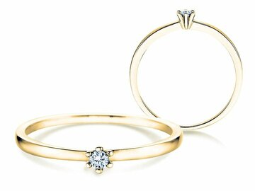 Engagement ring Classic Petite in yellow gold