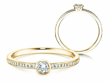 Engagement ring Eternal Pavé in yellow gold