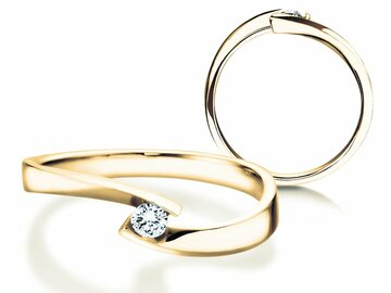 Engagement ring Twist Petite in yellow gold