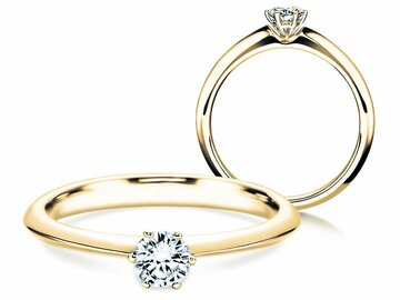 Engagement ring The One in yellow gold