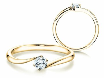Engagement ring Devotion in yellow gold