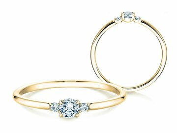 Engagement ring Glory Petite in yellow gold