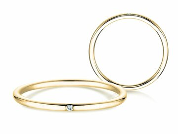 Engagement ring Promise Petite in yellow gold