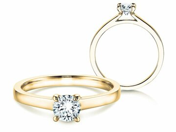 Engagement ring Modern in yellow gold
