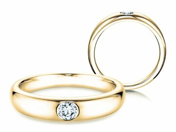 Engagement ring Promise in yellow gold