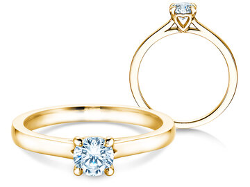 Engagement ring Romance in yellow gold
