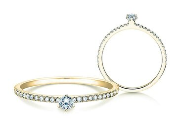Engagement ring Classic Pavé in yellow gold