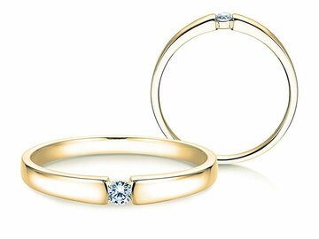 Engagement ring Infinity Petite in yellow gold