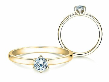 Engagement ring Melody in yellow gold