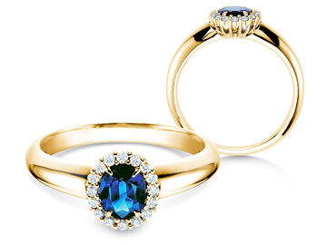 Engagement ring Windsor in yellow gold