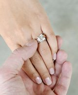 Engagement ring which hand