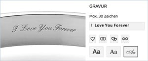 free engraving with live preview at HANDMADE-ENGAGEMENTRINGS.com