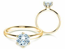 Engagement ring Classic 6 in 18K yellow gold with diamond 1.00ct