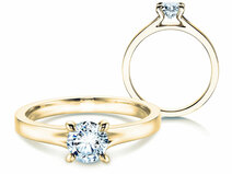Engagement ring Modern in 14K yellow gold with diamond 1.00ct