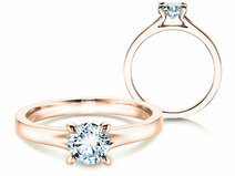Engagement ring Modern in 14K rosé gold with diamond 1.00ct