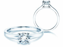 Engagement ring Modern in platinum 950/- with diamond 1.00ct