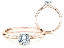 Engagement ring Delight in 14K rosé gold with diamond 0.50ct