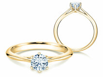 Engagement ring Heaven 6 in 14K yellow gold with diamond 0.50ct