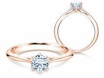 Engagement ring Heaven 6 in 14K rosé gold with diamond 0.50ct