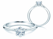 Solitaire ring Heaven 6 in 18ct white gold with diamond 0,50ct G/SI