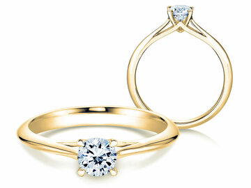 Engagement ring Heaven 4 in yellow gold