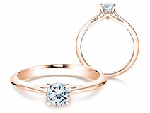 Engagement ring Heaven 4 in 14K rosé gold with diamond 0.50ct