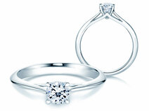 Engagement ring Heaven 4 in 14K white gold with diamond 0.50ct