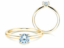 Engagement ring Classic 4 in 14K yellow gold with diamond 0.50ct